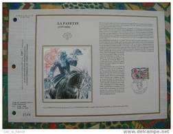 Document Philatelique Edition Soie (silk Edition) La Fayette - Freemasonry
