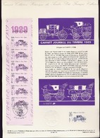 Document Officiel Journée Du Timbre 1989 Carnet Complet - Stamp's Day