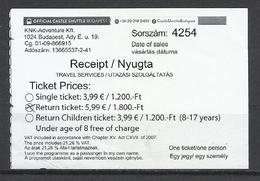 Hungary, Budapest Castlel Shuttle Return Ticket, Segway Tours Ad, 2018. - Europa