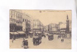 CPA  DPT 59 LILLE, LA GRAND PLACE, LA DEESSE ET LES CAFES En 1919! - Lille
