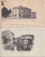 51 CHÂLONS-SUR-MARNE - LOT De 2 Cartes Précurseurs : Entrée De La Manufacture De Papiers Peints + Canal De Mau - Châlons-sur-Marne