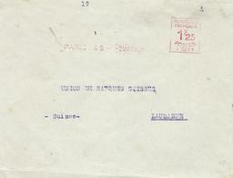 1926- Enveloppe De Paris Pour Lausanne Affr. Machine A 0043 à 1,25 F - Marcophilie (Lettres)