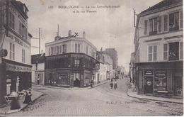 92 BOULOGNE - La Rue Larochefoucault Et La Rue Fessart - Animée, Commerces - Boulogne Billancourt