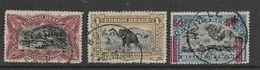 Belgian Congo, 1923, 50c, 1 Fr, 50c / 25c, Used - Belgian Congo