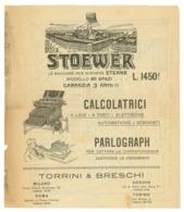 STOEWER-PARLOGRAPH-MACCHINE DA SCRIVERE/CALCOLATRICI VOLANTINO (Z-49) - Pubblicitari