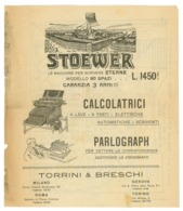 STOEWER-PARLOGRAPH-MACCHINE DA SCRIVERE/CALCOLATRICI VOLANTINO (Z-49) - Publicités