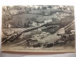 Carte Postale Le Mont Dore (63) Vue Sur La Gare ( Petit Format Noir Et Blanc Circulée ) - Le Mont Dore
