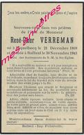 En 1943 Esquelbecq Et Bailleul (59) René Omer VERREMAN Né 1869 - Décès