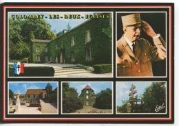 Colombey Les Deux églises Multivues N°4209 Estel : Boisserie Portrait Tombe Mémorial Général De Gaulle - Colombey Les Deux Eglises