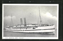 Pc Lazarettschiff H.M.H.S. Tagus In Voller Fahrt - Red Cross