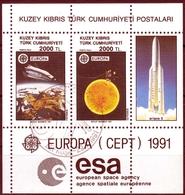 Türkisch-Zypern MiNr. Bl. 9 O Europa: Europäische Weltraumfahrt - Zypern (Türkei)