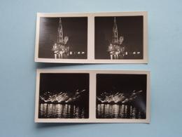 VERLICHTING Stad Antwerpen ILLUMINATION 1930 ( Série N° 414 ) ANTWERP Stéréo - Ch. DU HOUX ( Zie / Voir Photos ) ! - Photos Stéréoscopiques