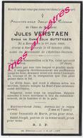 En 1930 Renescure Et Steenvorde (59) Jules VERSTRAEN Ep Zélie BUTSTRAEN Né 1860 - Esquela