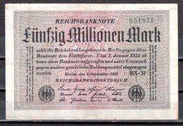 Reichsbanknote 1923 Fünfzig Millionen 50.000.000 Mark (pü0618) - 50 Millionen Mark