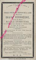 En 1901 Bailleul (59) Désiré VERHAEGHE Ep Rosalie DEBRUYNE 70 Ans - Décès