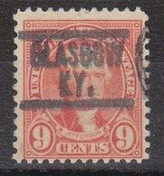 USA Precancel Vorausentwertung Preo, Locals Kentucky, Glasgow 641-549 - Vereinigte Staaten