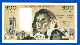 500 Fr  Du  1/5/1984 - 500 F 1968-1993 ''Pascal''
