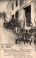 LES LEVES 33 GIRONDE CARTE PUBLICITAIRE C. REY MACHINES AGRICOLES MOTOS ARMOR - France