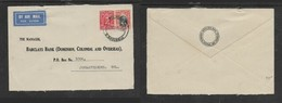 Southern Rhodesia, Barclays Bank D.C.O. Cover,air Mail, 5d,BULAWAO 31 MY 34 . Johannesburg - Southern Rhodesia (...-1964)