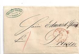 NDP166 / NORDDEUTSCHER POSTBEZIRK - THORN F Stempel 1868 Nach Driesen (Poln. Drezdenko) - Norddeutscher Postbezirk