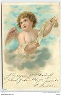 N°7996 - Carte Fantaisie - Ange - Carte Avec Des Perles - Engel
