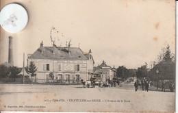 21 -Très Belle Carte Postale Ancienne De CHATILLON SUR SEINE  L'AVENUE DE LA GARE - Chatillon Sur Seine