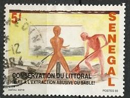 Sénégal 1993 Y&T N°1061 - Michel N°(?) (o) - 5f Conservation Du Littoral - Senegal (1960-...)