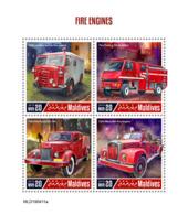 Maldives  2019 Fire Engines,fire Truck  S201907 - Maldives (1965-...)