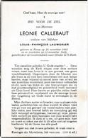 Ronse, 1963, Leonie Callebaut,Lauwerier, - Devotion Images