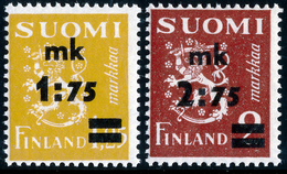 FINLAND 1940 Definitive Lion Surcharged, MI 228-229**MNH - Nuovi