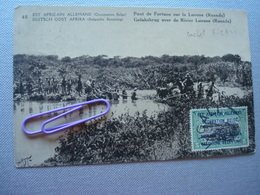 EST AFRICAIN ALLEMAND, Occupation BELGE : Pont De Fortune Sur La Luvonne (ruanda) En 1919 - Autres