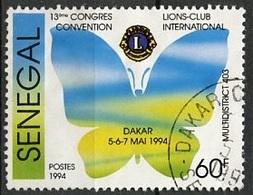 Sénégal 1994 Y&T N°1091 - Michel N°(?) (o) - 60f Lions Club - Sénégal (1960-...)