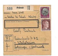 III-OM073 / 3.-Reich / Paketkarte Aus Prävali (Kärnten) 1943 Nach Lothringen - Deutschland