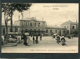 CPA - J'arrive à SAINT BRIEUC - Gare Des Chemins De Fer De L'Etat, Animé - Saint-Brieuc