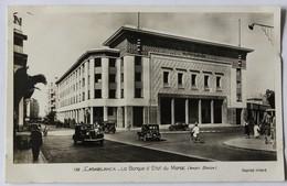 CPA Qualité Photo Casablanca Banque D'état Du Maroc Voitures Anciennes - Casablanca