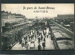CPA - SAINT BRIEUC - La Gare, Les Quais - Trains En Gare, Très Animé - Saint-Brieuc