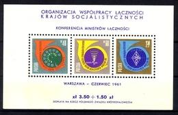 POLEN BLOCK 24 ** POSTMINISTERKONFERENZ DER OSTBLOCKSTAATEN 1961 - Blocks & Sheetlets & Panes