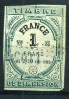 """FRANCE ( FISCAUX ) : TIMBRE  FISCAL """" DE  DIMENSION """" A  SAISIR . - Fiscaux"""
