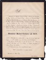 BRUXELLES Michel-Gustave LE ROY Artiste-peintre 24 Ans 1870 Jules DE BRAUWERE QUEPSCHEN - Décès