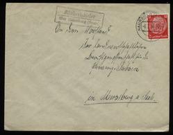 WW II DR Briefumschlag : Gebraucht Mit Landpoststempel Klosterhäseler über Naumburg - Merseburg 1938 , Bedarfserhaltun - Lettres & Documents