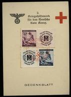 WW II DR Böhmen Und Mähren Gedenkblatt Karte Rotes Kreuz: Gebraucht Mit Hitler Geburtstag Sonderstempel Prag 20.4.1941 - Briefe U. Dokumente