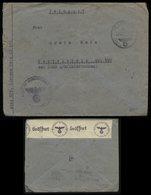 WW II DR Frankreich Feldpost Briefumschlag Mit Zensur: Gebraucht Feldpost Nr. 05685 Marine Seeverteidigung Gascogne - - Briefe U. Dokumente