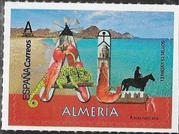 SPAIN, 2019, MNH, 12 MONTHS 12 STAMPS,  ALMERÍA, VEGETABLES, FISH, SHRIMPS, HORSES, CHAMELEONS, BEACHES, WINDMILLS, 1v - Fishes