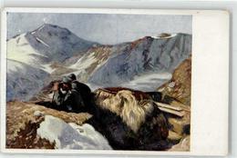 52420375 - Beobachtungsposten Am Stilfserjoch - Schuster, Karl M. - Kriegshilfsbuero - Rotes Kreuz - Missionen