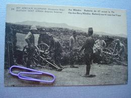 EST AFRICAIN ALLEMAND, Occupation BELGE : Au MITOKO, Batterie De 47 Avant Le Tir - Autres