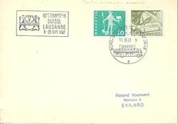 "Sonderstempel  ""Comptoir Suisse Lausanne""  (Rollen Mischfrankatur)          1961 - Rouleaux"