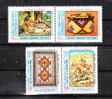 Iran   -  1988.  Tessitore E Suoi Prodotti. Weaver And Its Products. Complete MNH Series - Culture