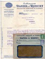Facture + Enveloppe - Etablissements Dapzol & Robert à Saint Etienne - Manufacture Forézienne De Fourneaux - Frankrijk