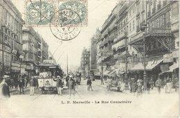 FR13 MARSEILLE - La Cannebière - LP - Pub Picon - Tramways - Animée - Belle - Canebière, Centre Ville