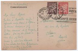 Carte Postale Marseille-gare 1929 Non Affranchie TAXE Banderole Duval 50c + 30c - Segnatasse